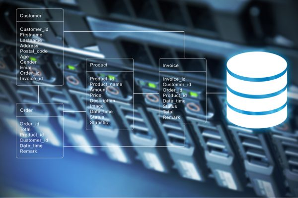 Database,Table,With,Server,Storage,And,Network,In,Datacenter,Background